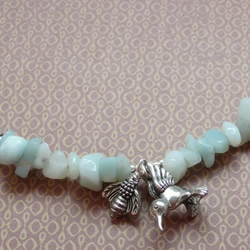 """The Birds and the Bees"" Amazonite Chip Necklace"