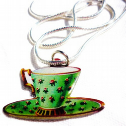 Summer special ** little teacup necklace **