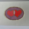 Card, Entwined Hearts Silk Painting, Valentine's Day