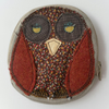 Zipped, Fabric Coin Purse, Owl