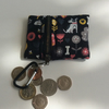 Fabric, zipped key ring purse, small coin purse