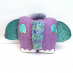 Elephant Soft Sculpture called Tufty - OOAK Heirloom Doll  Collectable Character