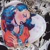 "Vintage Comic Necklace ""who Is SHE??!!"" Bubble Heart Pendant"