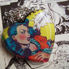 """who Is SHE??!!"" Vintage Comic Bubble Heart Necklace"
