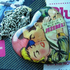 """ThE StOrY Of WiLd JeZeBeL"" Vintage Comic Bubble Heart Necklace"
