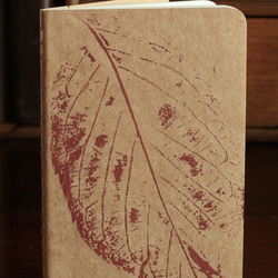 handprinted moleskine cahier journal