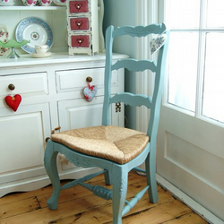 Vintage Country Ladder Back Chair