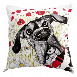Cushion featuring dog illustration