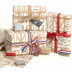 White Union Jack Wrapping Paper