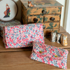 FOR BECKY Set of two matching pouches in Wiltshire coral