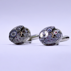 Oval watch movement cufflinks 151