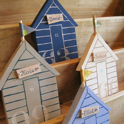 Personalised Beach Huts - set of four