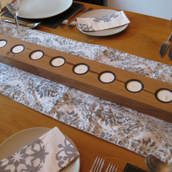 Reclaimed Oak Christmas Dining Table Runner