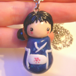 Kute kokeshi Dolly Necklace