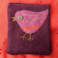 red bird purse