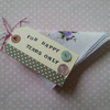 wedding favour hankie with polka dot chic detail and buttons