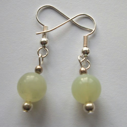 Jade and Silver - Earrings