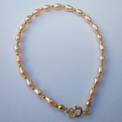 Pink and Gold - Pearl Bracelet