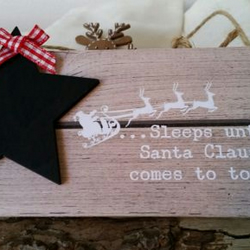 Christmas Countdown Plaque with Chalk