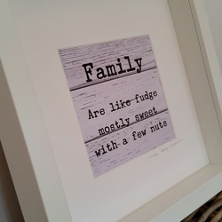 Framed Family are like Fudge Picture