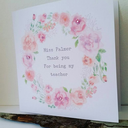Thank You Teacher Personalised Card
