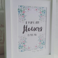 If mum's were flowers - Framed Print