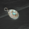 Oval sterling silver and paua pendant
