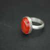 Sterling Silver Ring with Red Jasper,  R17