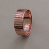 Hammered Copper Ring, size P and Q.  R77