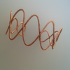 Hammered Copper Wave Cuff Bracelet,  B63