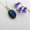 Sterling Silver Pendant with Azurite and Malachite   P23