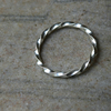 Stacking Ring in Sterling Silver Twist, size P-Q,  R94B