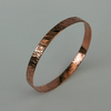 Hammered Copper Round Bangle,  B63B