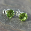 Sterling silver Stud Earrings with Peridot