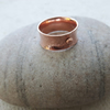 For A - Hammered Copper Anticlastic Ring with Granulation, size O