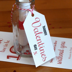 Personalised vintage style Valentines Day Message in a Bottle
