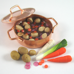 Doll House Miniature Food Vegetable Stew Set