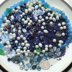 Gorgeous mix of Blue beads