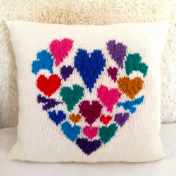 Knitting Pattern for Heart of Hearts Cushion