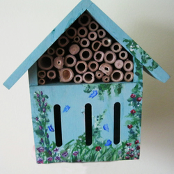 Insect Hotel or Butterfly House - Hand Painted Garden Ornament wildlife houses