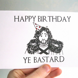 Funny birthday card game of thrones card person folksy funny birthday card game of thrones card personalised joke silly jon snow got bookmarktalkfo Image collections