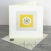 Blank Large Square Art Card Citrus Lemon