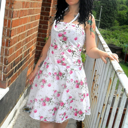 Picnic by the Lake Floral Ditsy Summer Dress - Medium