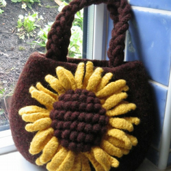 Knitting Pattern for Sunflower bag
