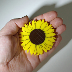 Acrylic Sunflower Brooch