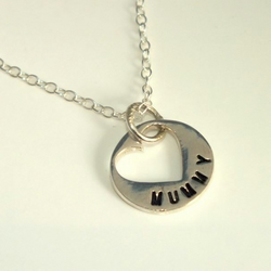 Beautiful Handmade Solid Silver Mummy necklace- ideal Christmas Gift
