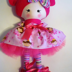 Hand made doll with skirt and tutu