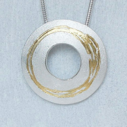 Silver necklace - Washer Pendant
