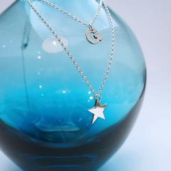 Sterling Silver Star and Initial personalised Necklace, star necklace