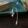 Snowdrop Brooch - Silver Flower Stick Pin